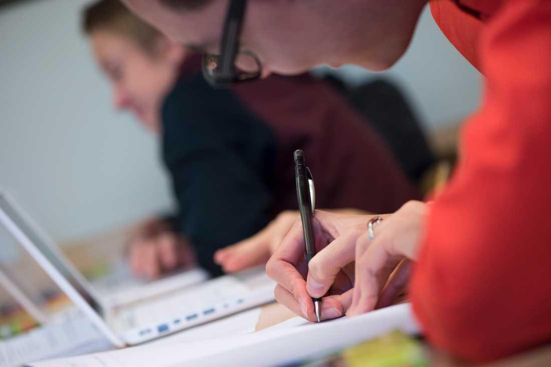 Två tredjedelar av de skolansvariga använder sig av distansundervisning, visar en färsk lägesbild. Arkivbild.