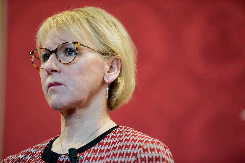 Margot Wallström, utrikesminister.