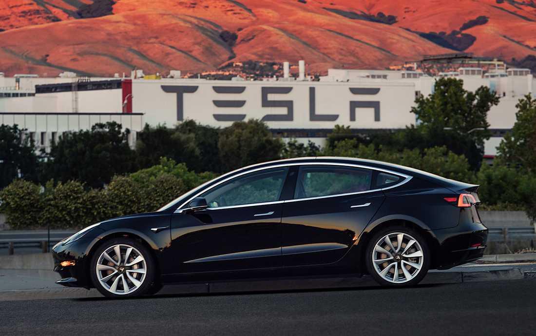 En av de relativt få Model 3 som har tillverkats än så länge. Arkivbild.
