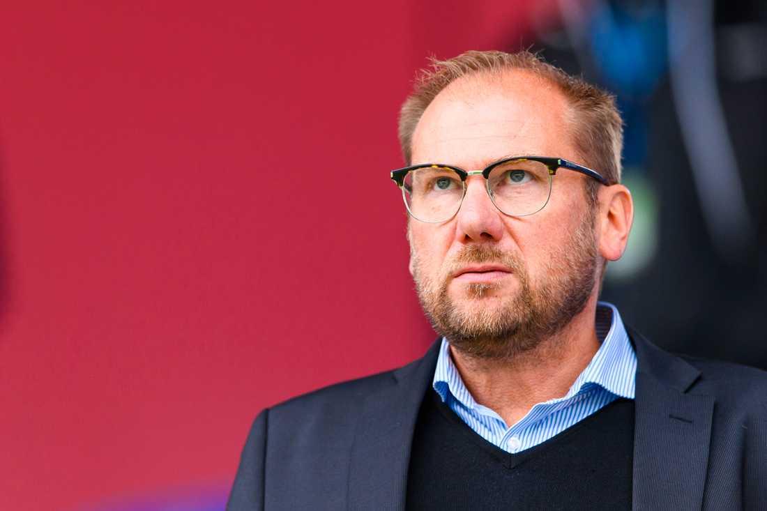 Halmstads tränare Magnus Haglund.