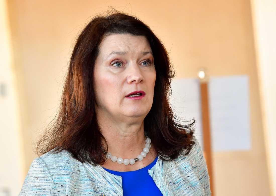 Utrikesminister Ann Linde (S) planerar för ett möte med plattformsbolagen senare i vår. Arkivbild.