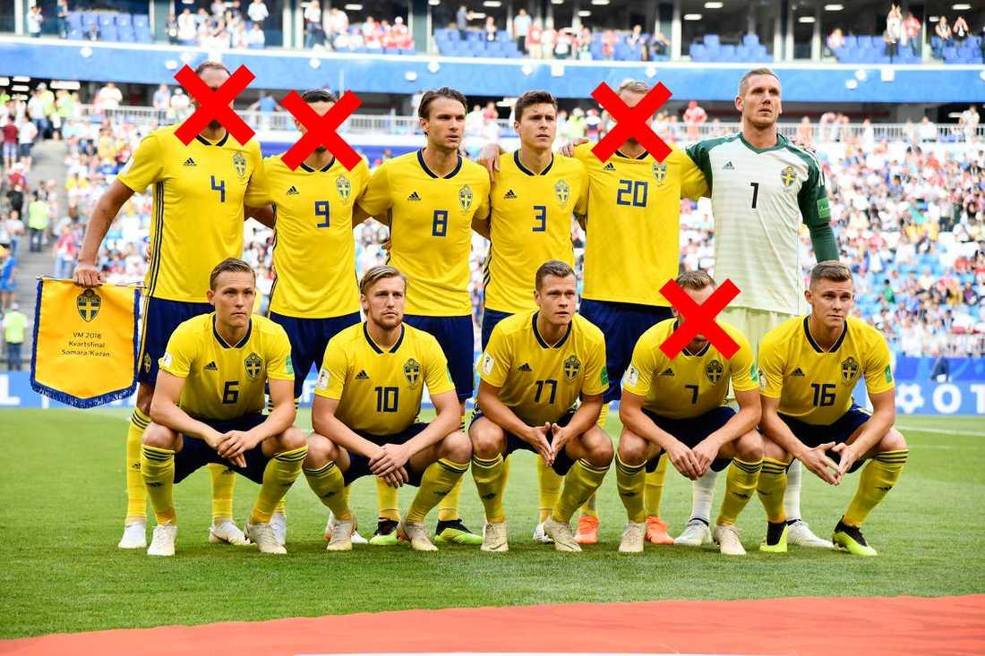 Fyra spelare kan lämna landslaget