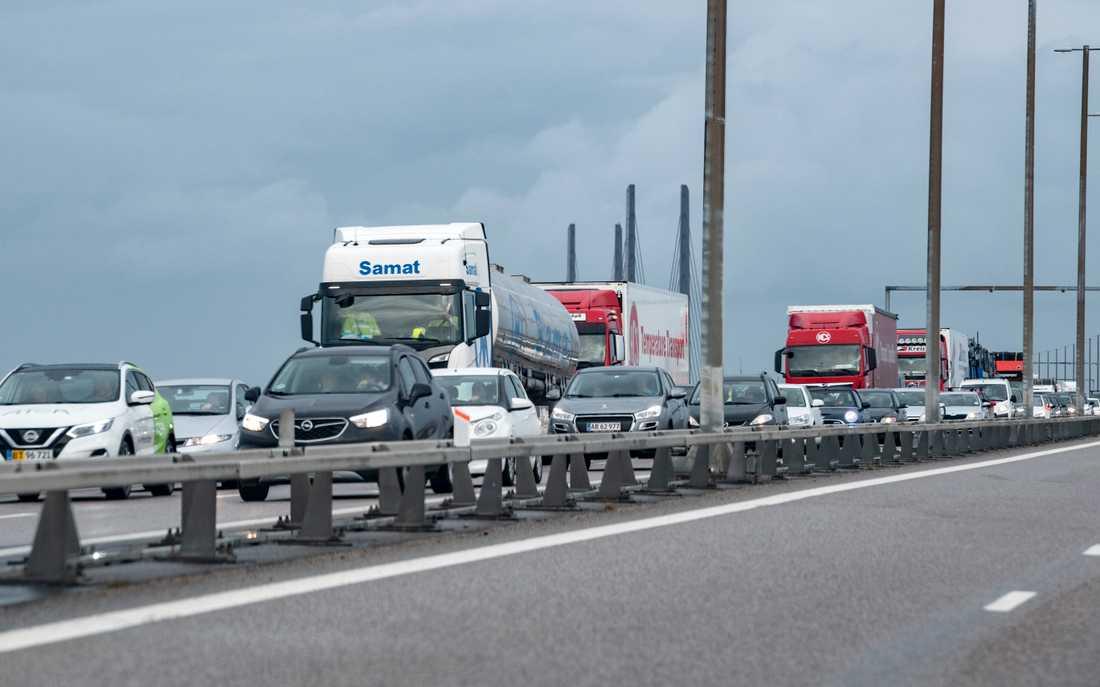 Öresundsbron väntas bli en flaskhals när jättebygget Fehmarn Bältförbindelsen mellan Danmark och Tyskland står klart om åtta år. Arkivbild.