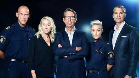 Jale Poljarevius, polis, Catarina Lundbäck, kriminolog, Hasse Aro, programledare, Anna Wesberg, presstalesperson polisen, Martin Cullberg, advokat.