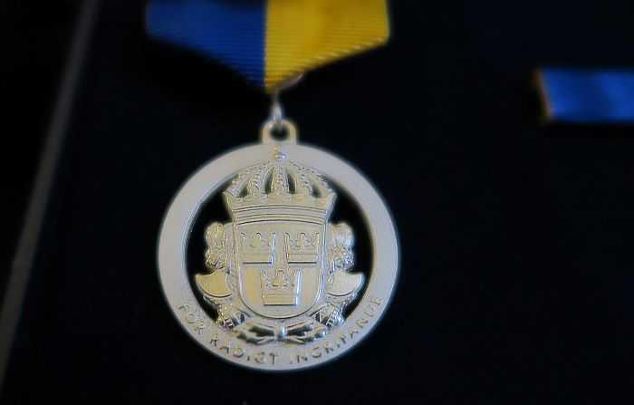 Alla tre fick varsin medborgarmedalj i silver.