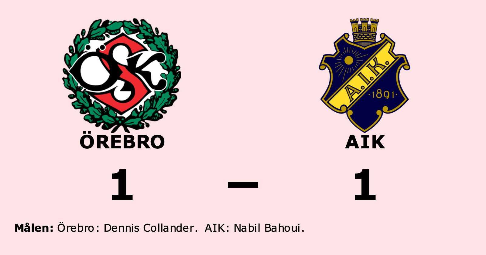 Nabil Bahoui räddade poäng när AIK kryssade