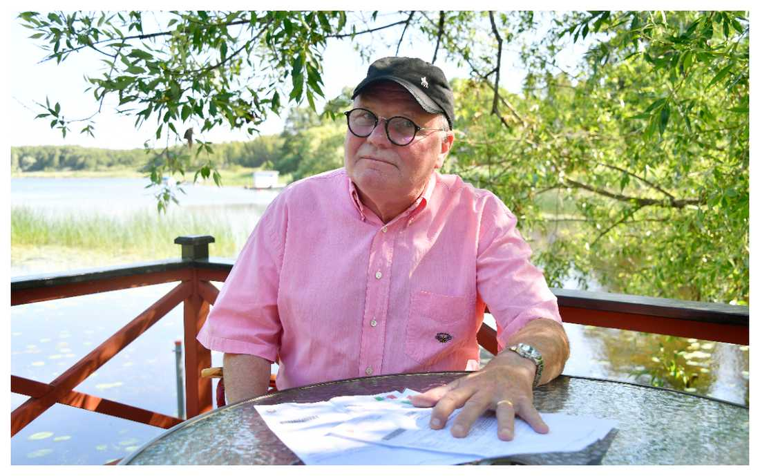 Owe Arkeklev fick trafikböter nio månader efter bilresan i Italien.