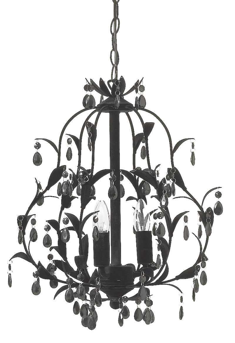 DRAMATISK. Svart takkrona med svarta pärlhängen, Mio, 1490 kr.