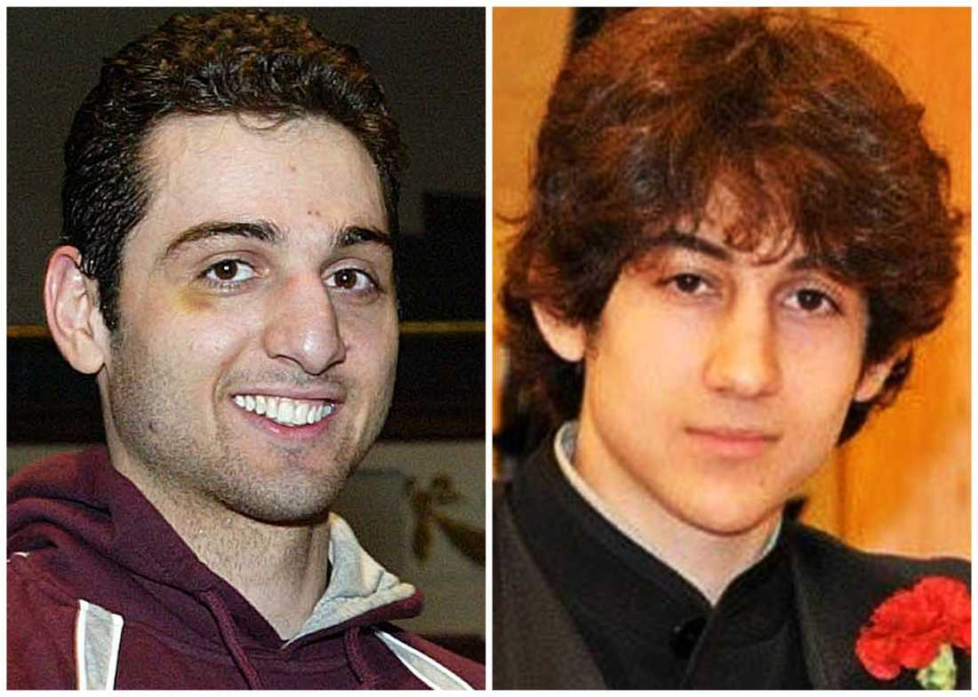 Tamerlan och Dzjochar Tsarnajev. Tamerlan dog vid dådet.