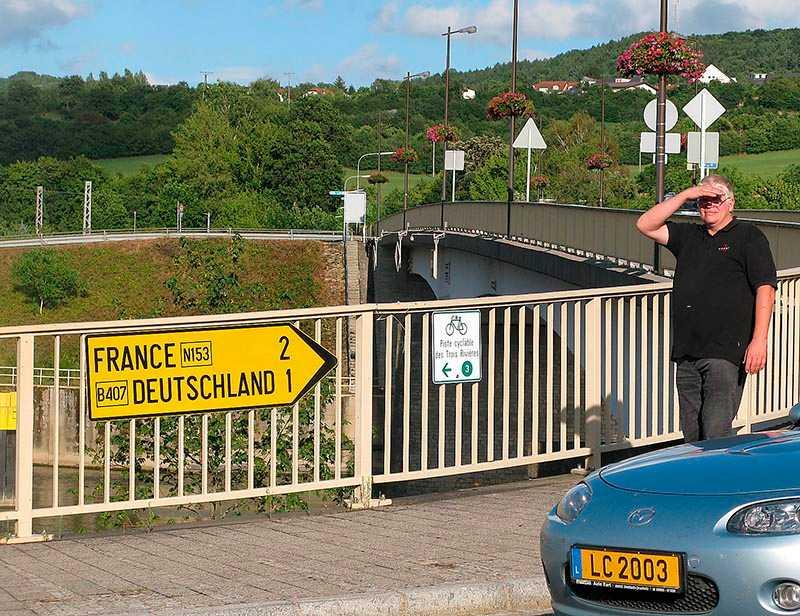 GRÄNSLÖS TANKE. Den lilla byn Schengen är ett treriksröse i ett gränsland där den moderne globetrottern lätt hittar rätt – i tre länder – på en kvart.