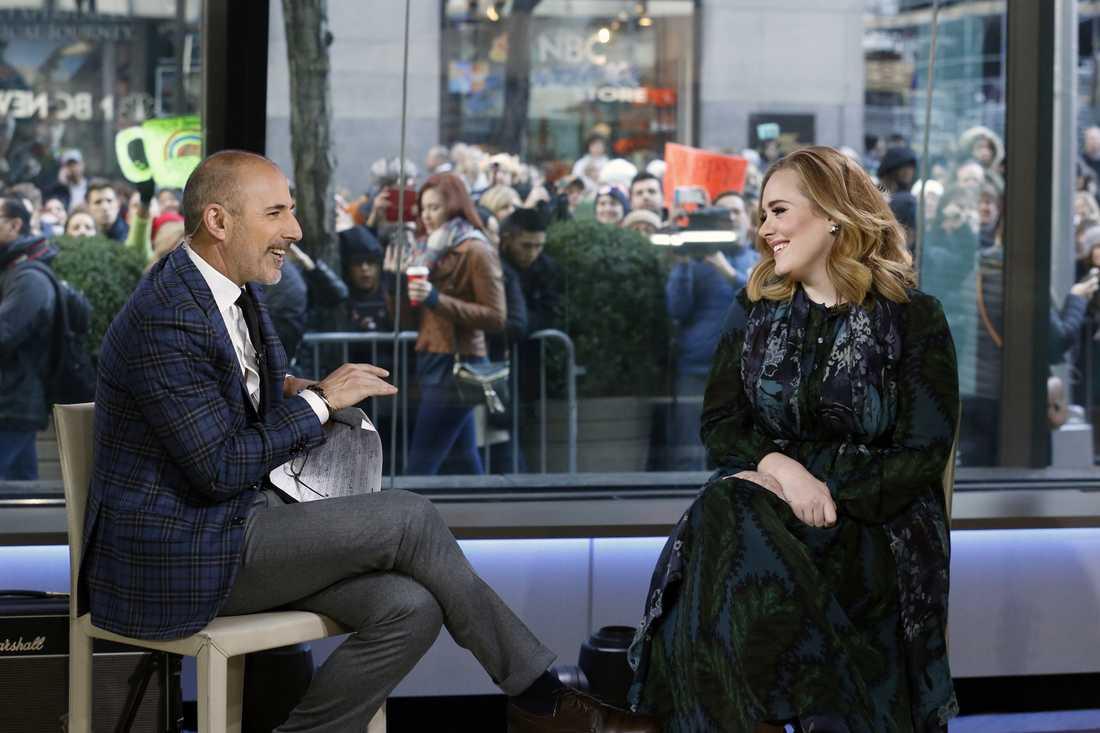 Matt Lauer intervjuar Adele.