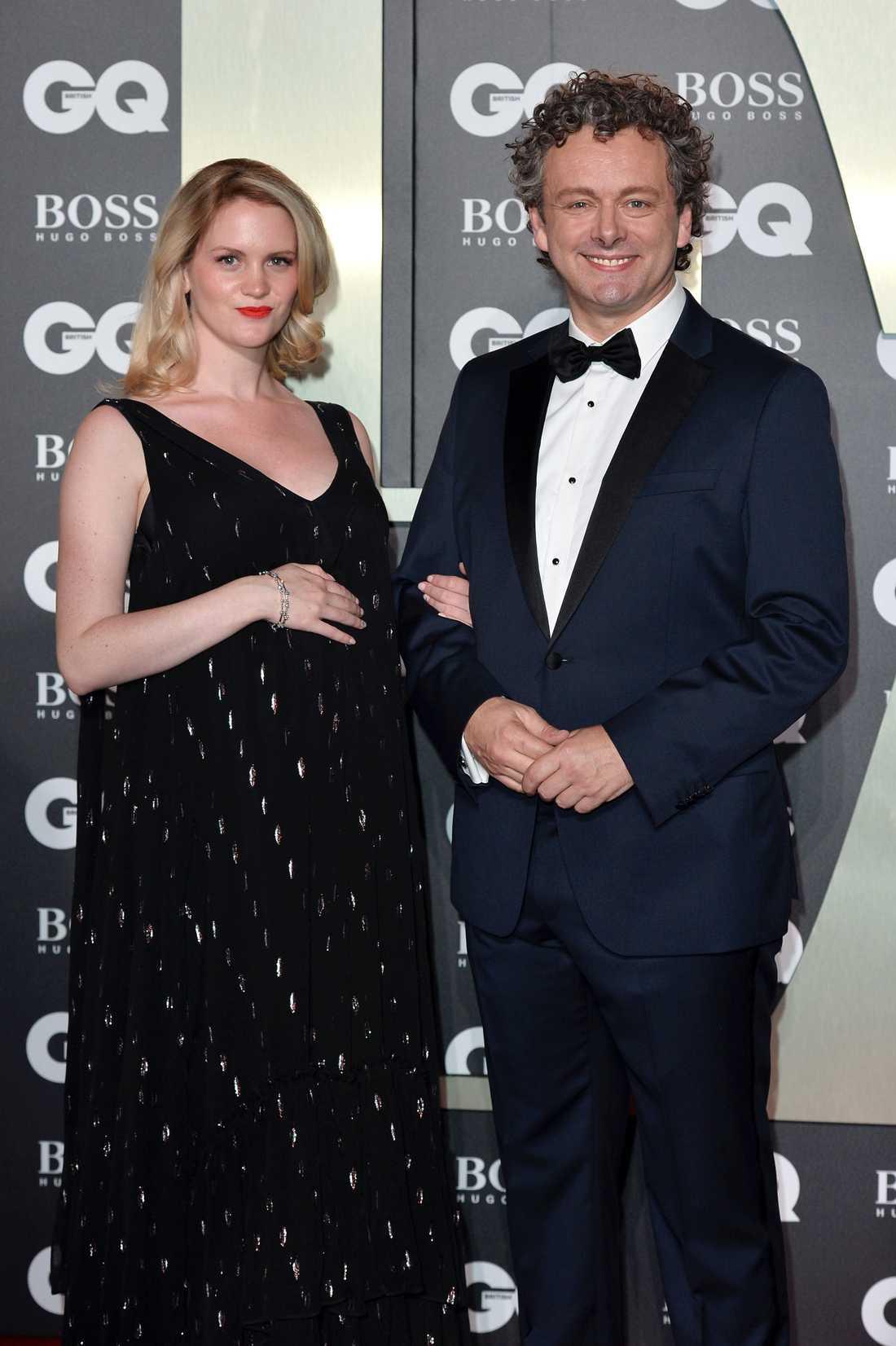 Anna Lundberg och Michael Sheen på GQ Men Of The Year Awards i London den 3 september.