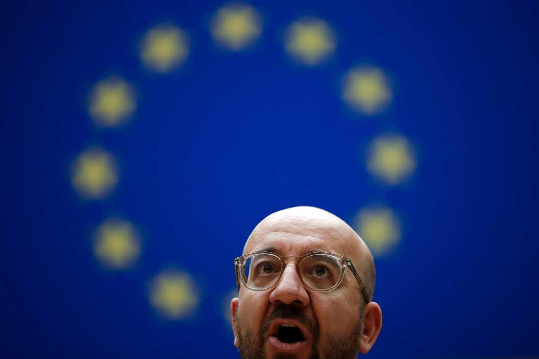 EU:s permanente rådsordförande Charles Michel leder ännu ett webbtoppmöte med EU-ländernas stats- och regeringschefer. Arkivbild.