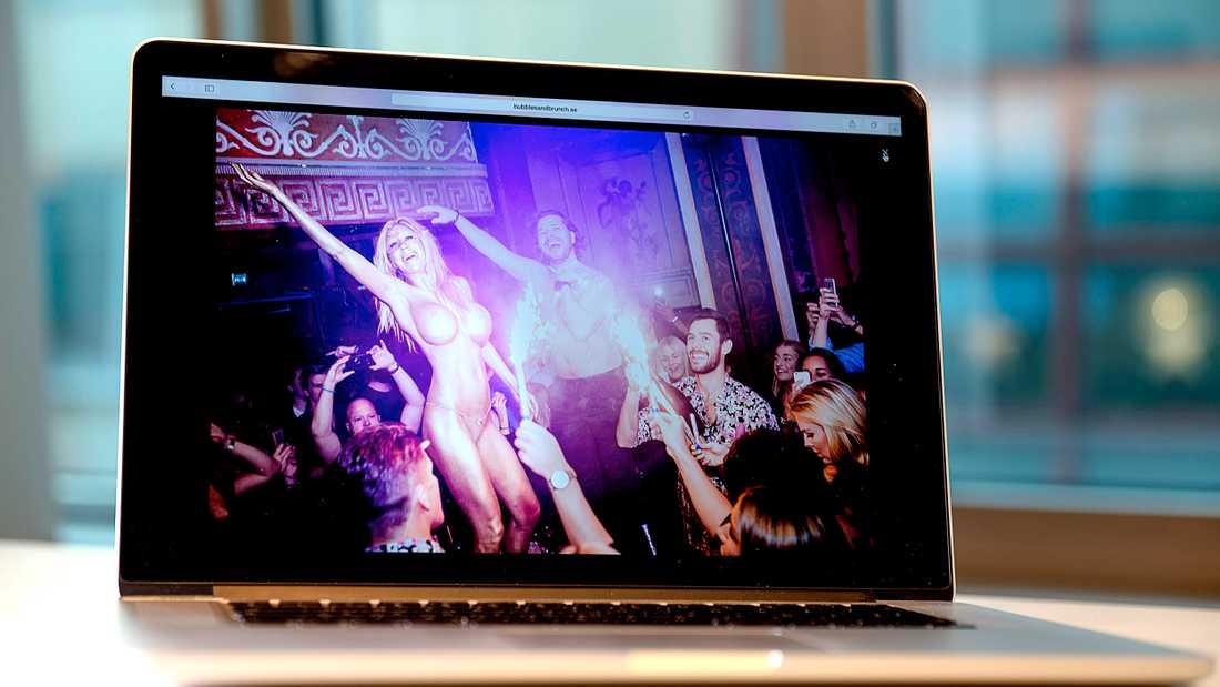 Porrstjärnan Puma Swede har också uppträtt på Kommunals krog. Här är reklam för hennes show på Metropol Palais hemsida.