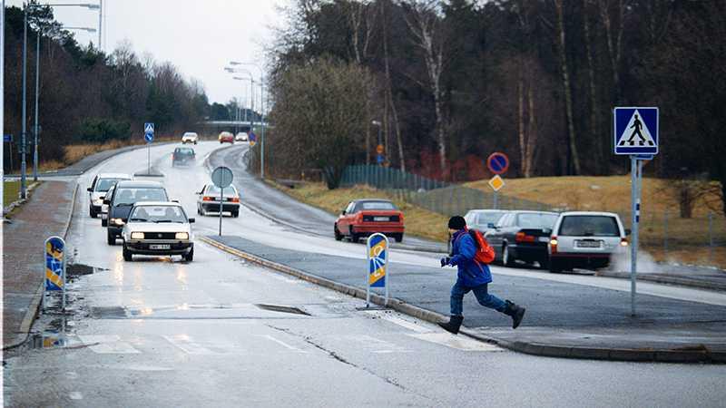 Ett sätt att anpassa vägarna är att göra dem smalare och bygga väghinder.