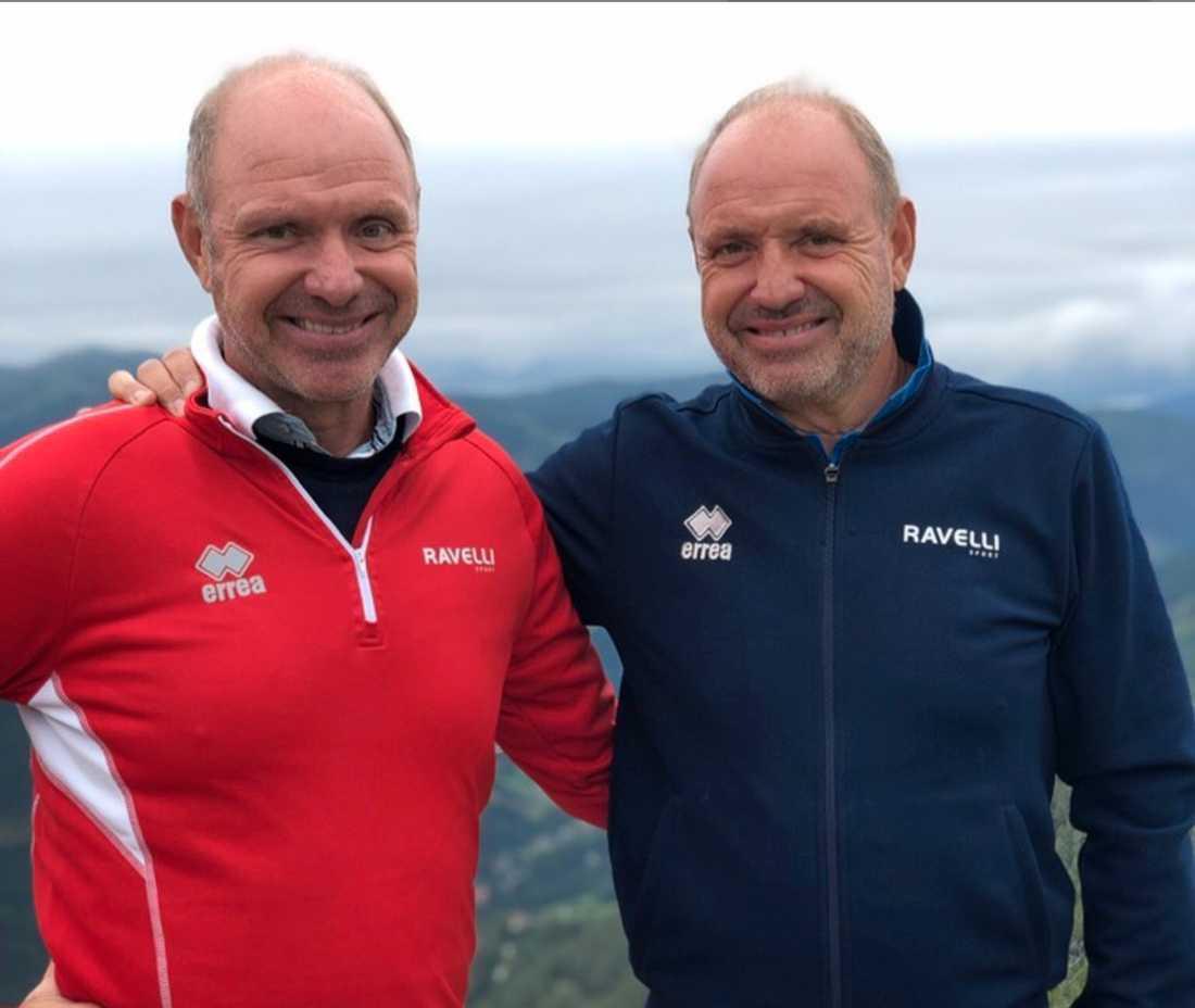 Thomas och Andreas Ravelli firar födelsedagen i Österrike.