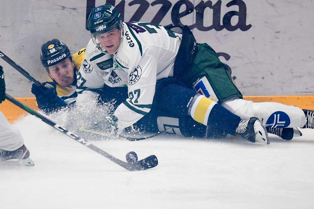 Fredrik Forsbergs HV71 förlorade hemma mot Adam Ginnings Färjestad.