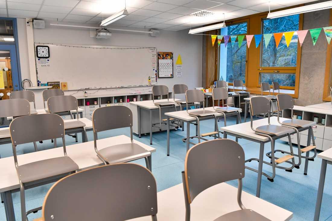 Smittspridningen har inte påverkats i någon högre utsträckning när skolor öppnat efter nedstängningarna, enligt flera internationella studier. Arkivbild.