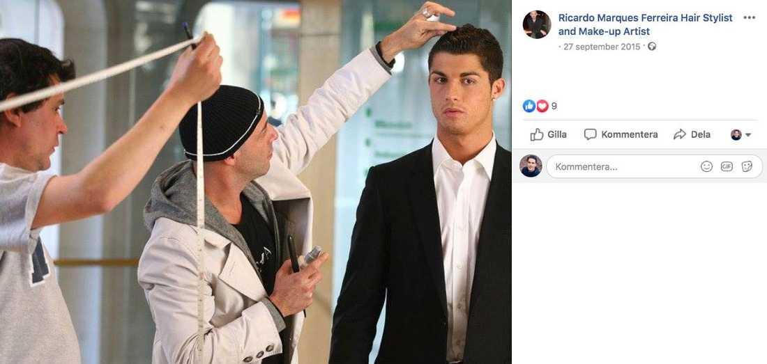 Mest känd var Marques Ferreira för att ha klippt Cristiano Ronaldo inför en fotografering 2015.