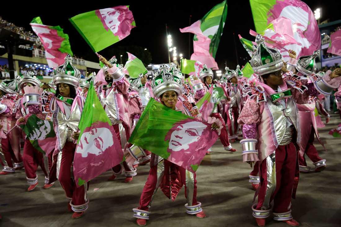 Under firandet av karnevalen i Rio den 5 mars 2019 viftade deltagare med flaggor föreställande Marielle Francos ansikte.