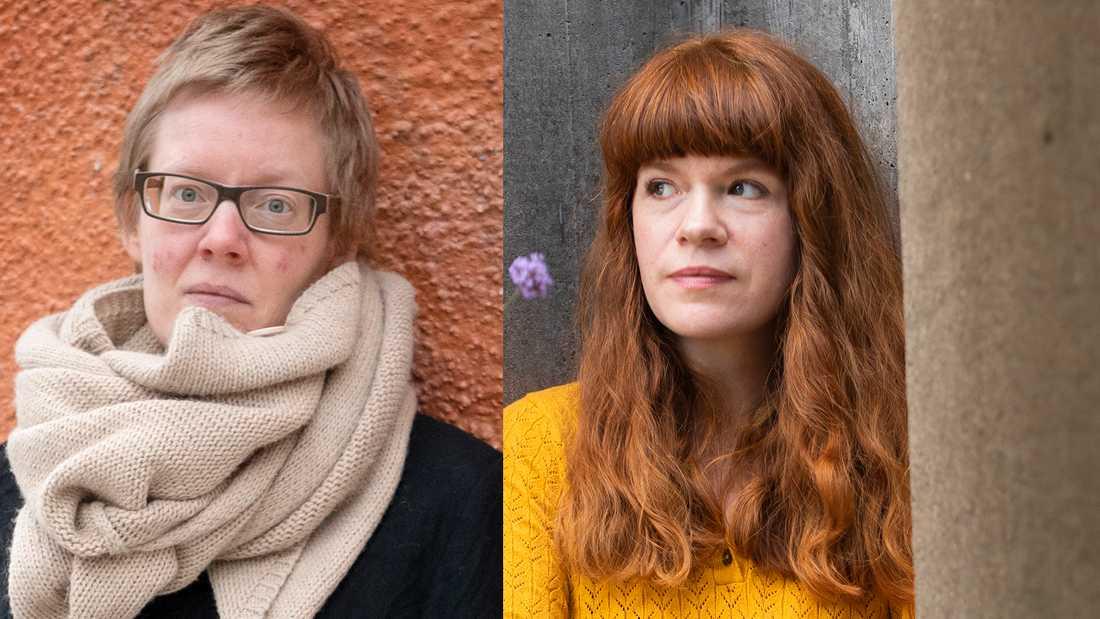 Helena Österlund och Sofia Stenström, två författare vars romaner sägs vara del av en trend – men som inte kan fogas in i mallen.