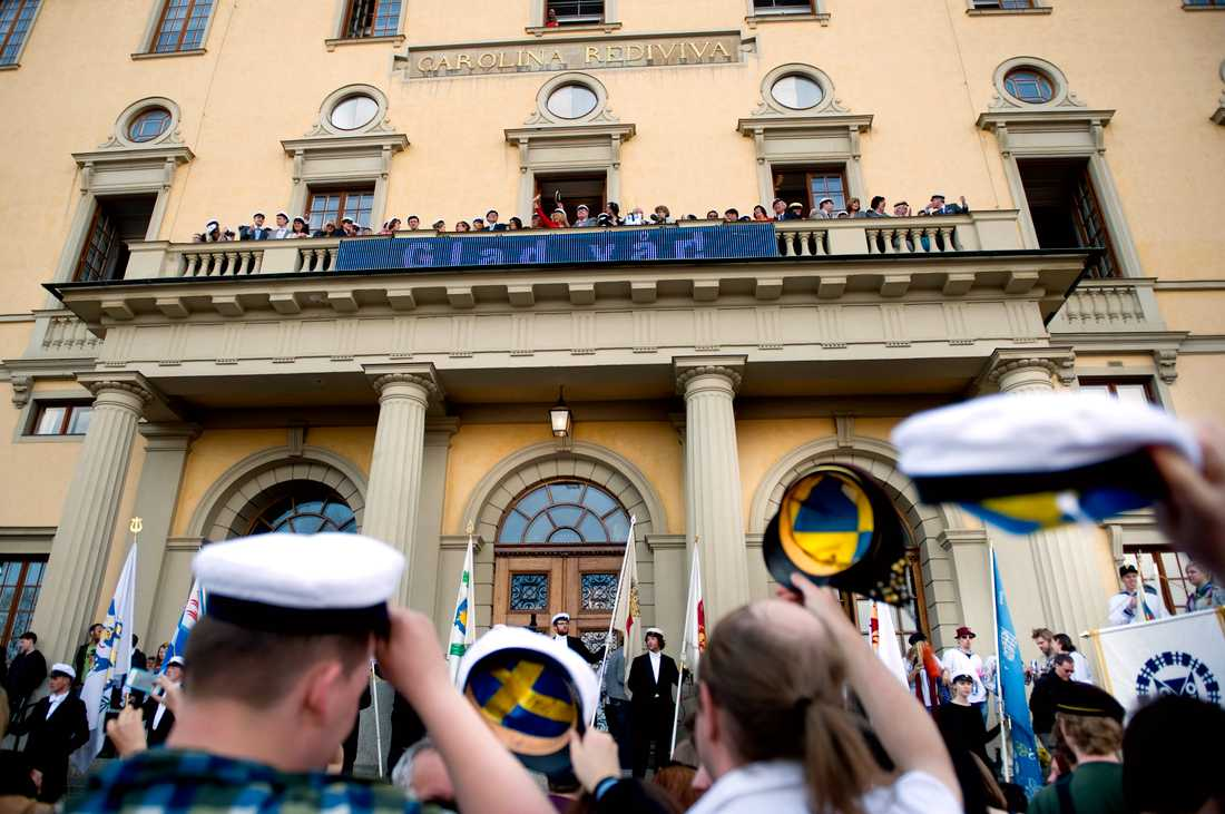 Det blir ingen mösspåtagning på Carolina Rediviva i Uppsala den sista april i år. Arkivbild.