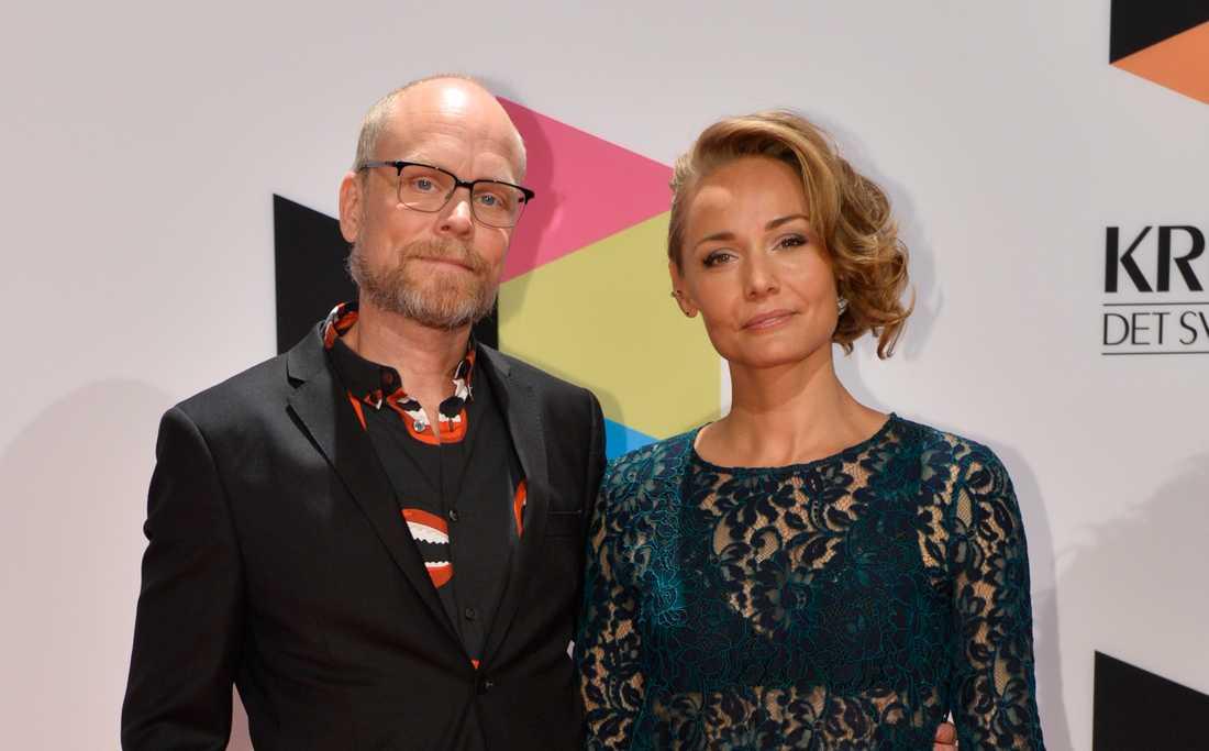 Kristian Luuk och Carina Berg på Kristallen 2015.