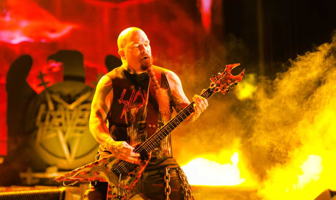 Kerry King under Slayers sista konsert i Sverige, på årets upplaga av Sweden Rock.