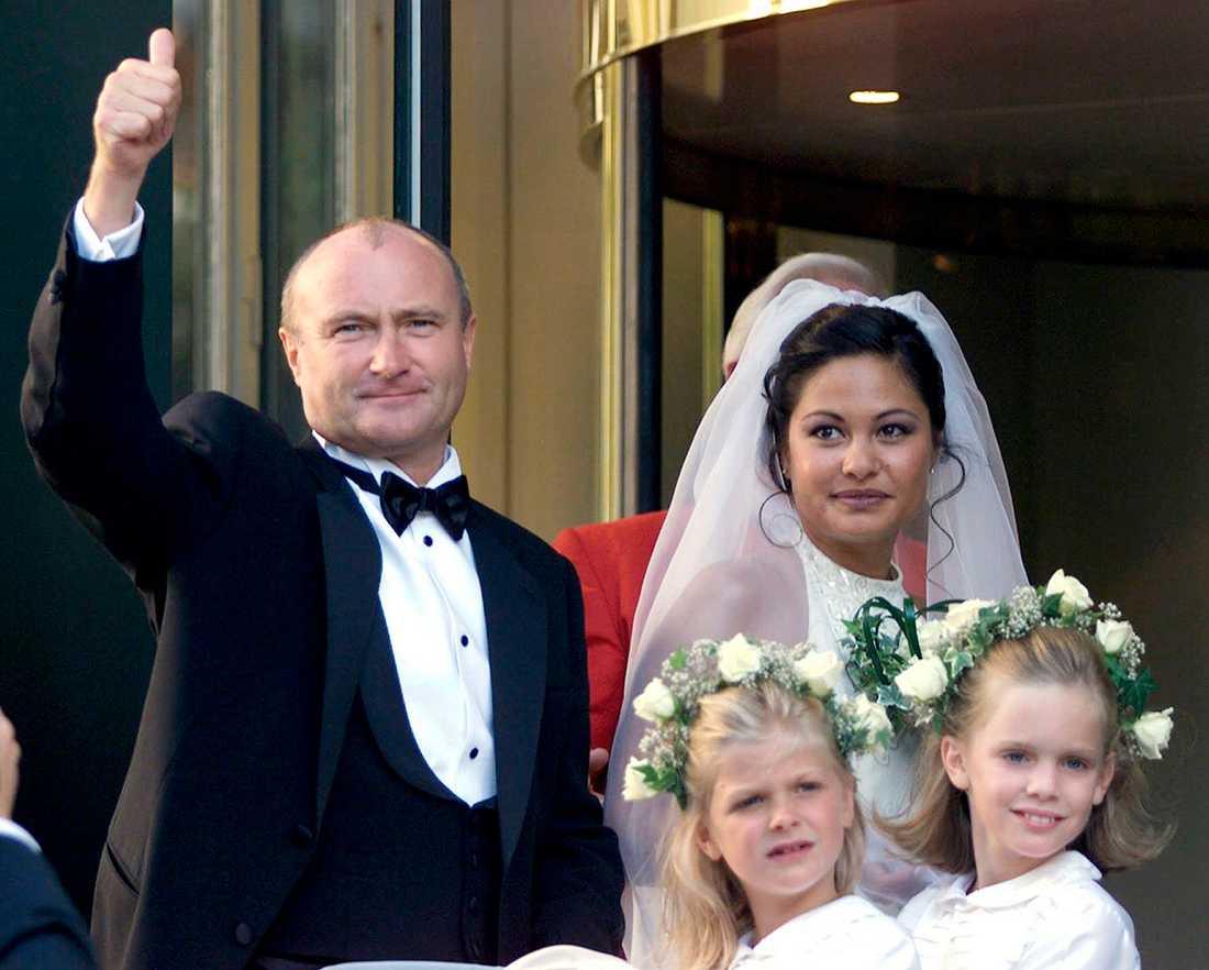 Phil Collins och Orianne Cevey första gången de gifte sig 1999.