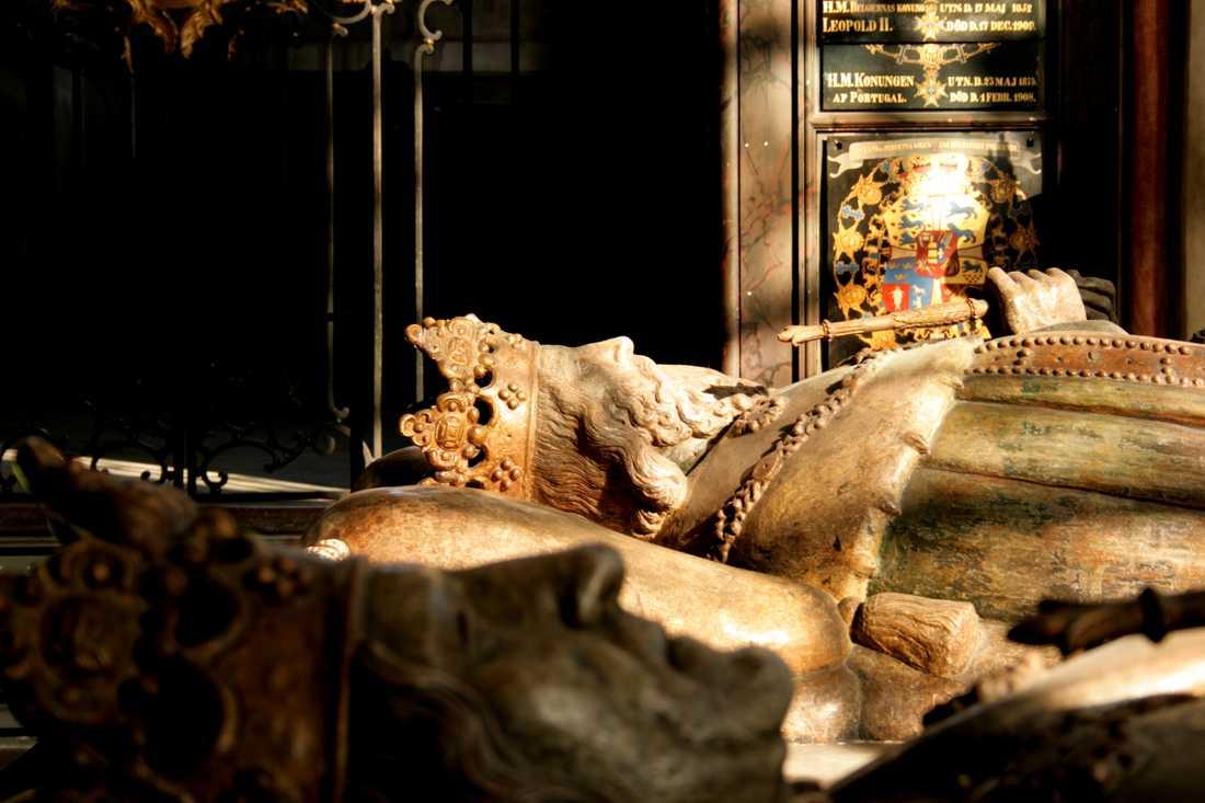 Magnus Ladulås grav i Riddarholmskyrkan i Stockholm. Arkivbild.