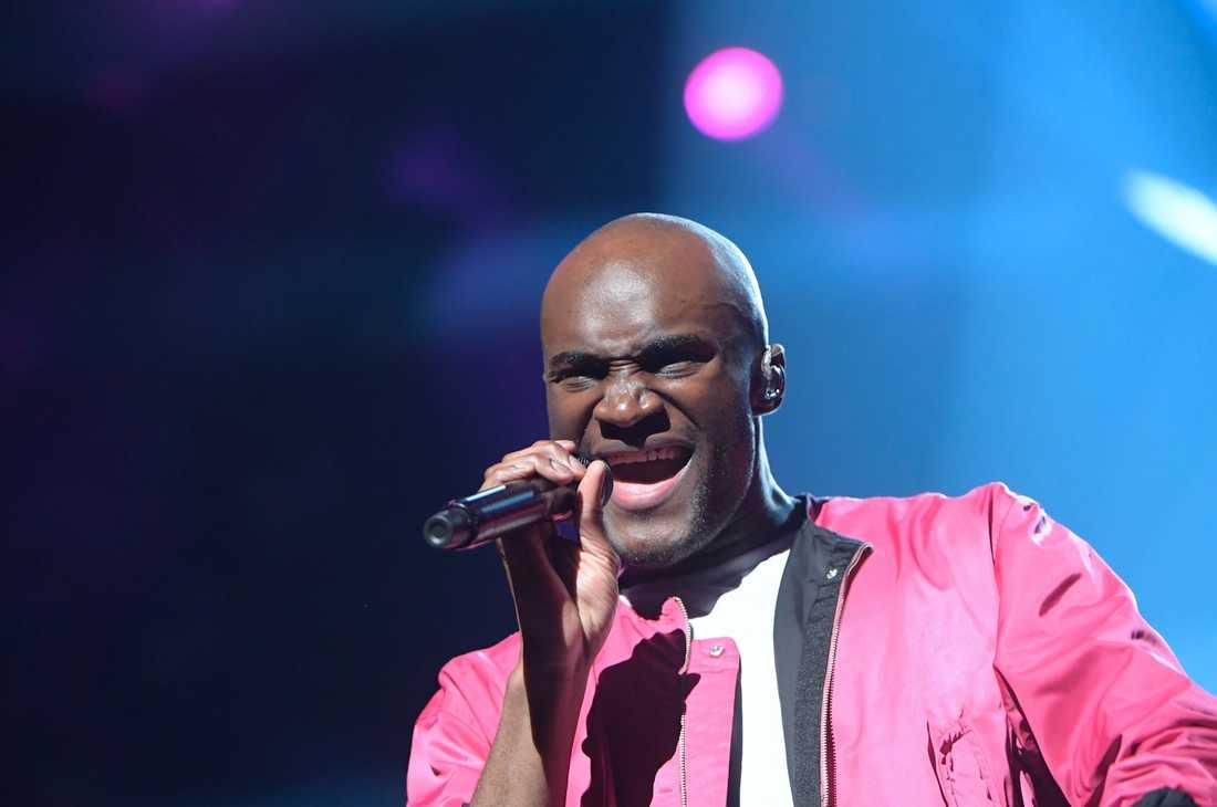 Boris René i Melodifestivalen 2017.