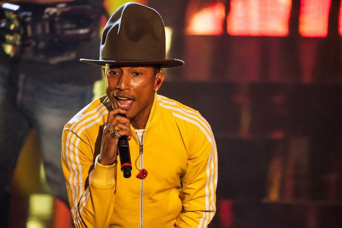 Pharrel Williams med hatt.