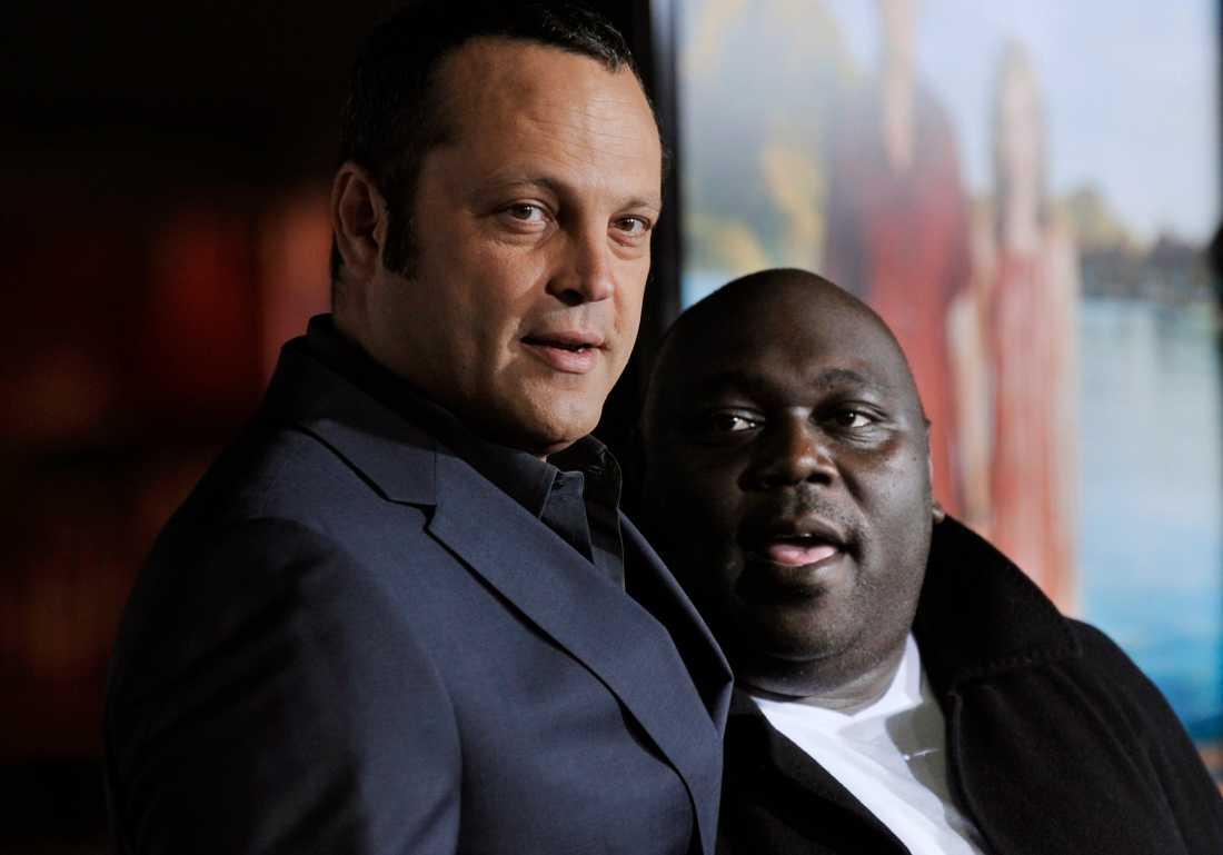Vince Vaughn och Faizon Love, 52, som stämmer filmjätten Universal.