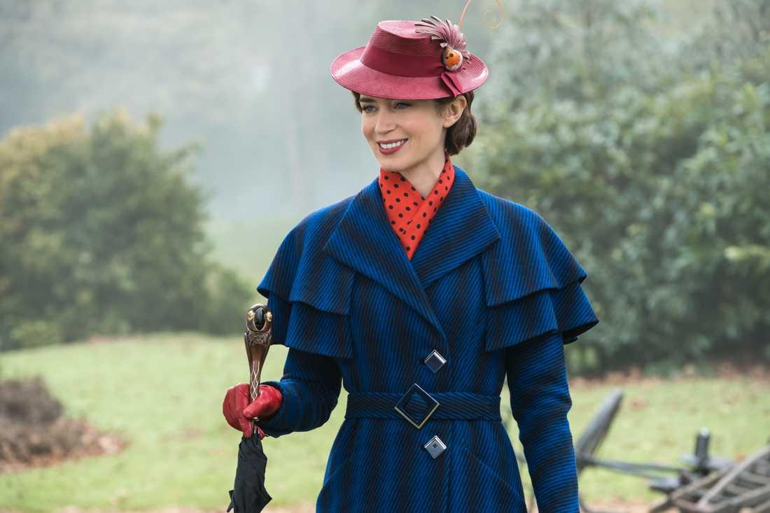 Emily Blunt som Mary Poppins.