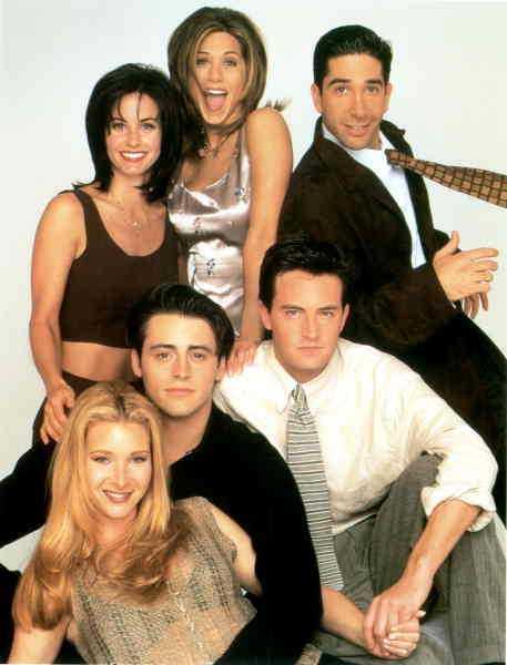 """""""Vänner"""" 1994. """"Vänner"""" sändes ursprungligen mellan 1994 och 2004 men går fortfarande i repris på tv-kanaler över hela världen."""