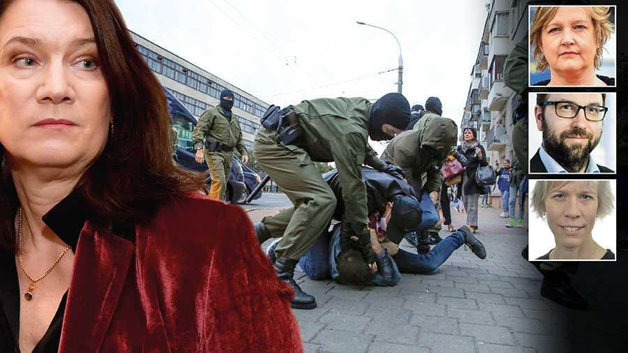 Klockan tickar för Belarus. Vad väntar utrikesminister Ann Linde på? Fortfarande betalar Sverige bistånd till statliga aktörer i Belarus, skriver Karin Karlsbro, Fredrik Malm och Maria Nilsson.