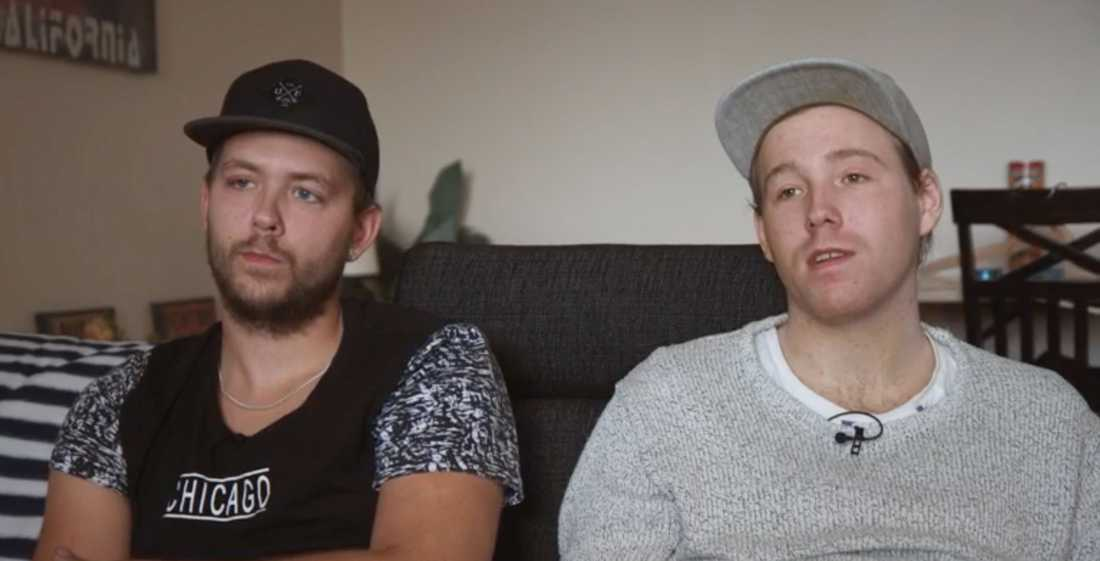 Bröderna Christian och Robin.