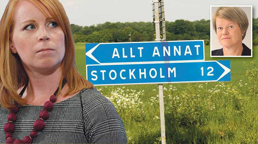 När Annie Lööf och C är med och styr ökar i stället klyftan mellan stad och land, mellan låginkomsttagare och höginkomsttagare, skriver Ulla Andersson.