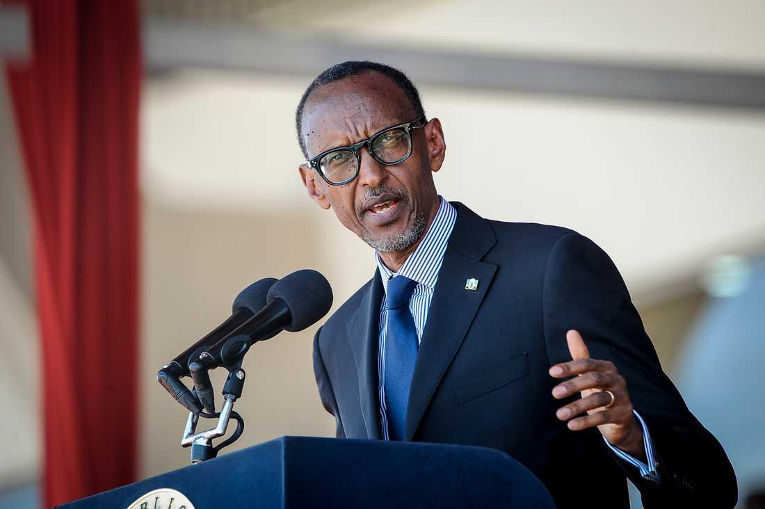Den nuvarande författningen i Rwanda tillåter Paul Kagame att sitta på presidentposten i totalt 34 år. Nu är han inne på sitt 20:e. Arkivbild.