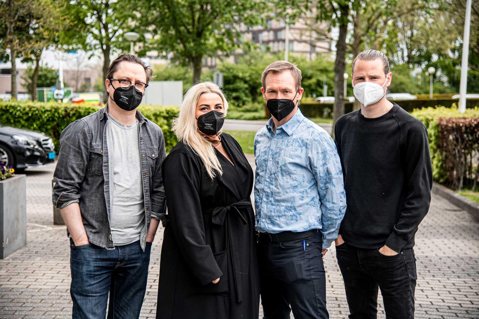 Aftonbladets team på plats i Rotterdam: Markus Larsson, Natalie Demirian, Torbjörn Ek och Robin Lorentz-Allard.