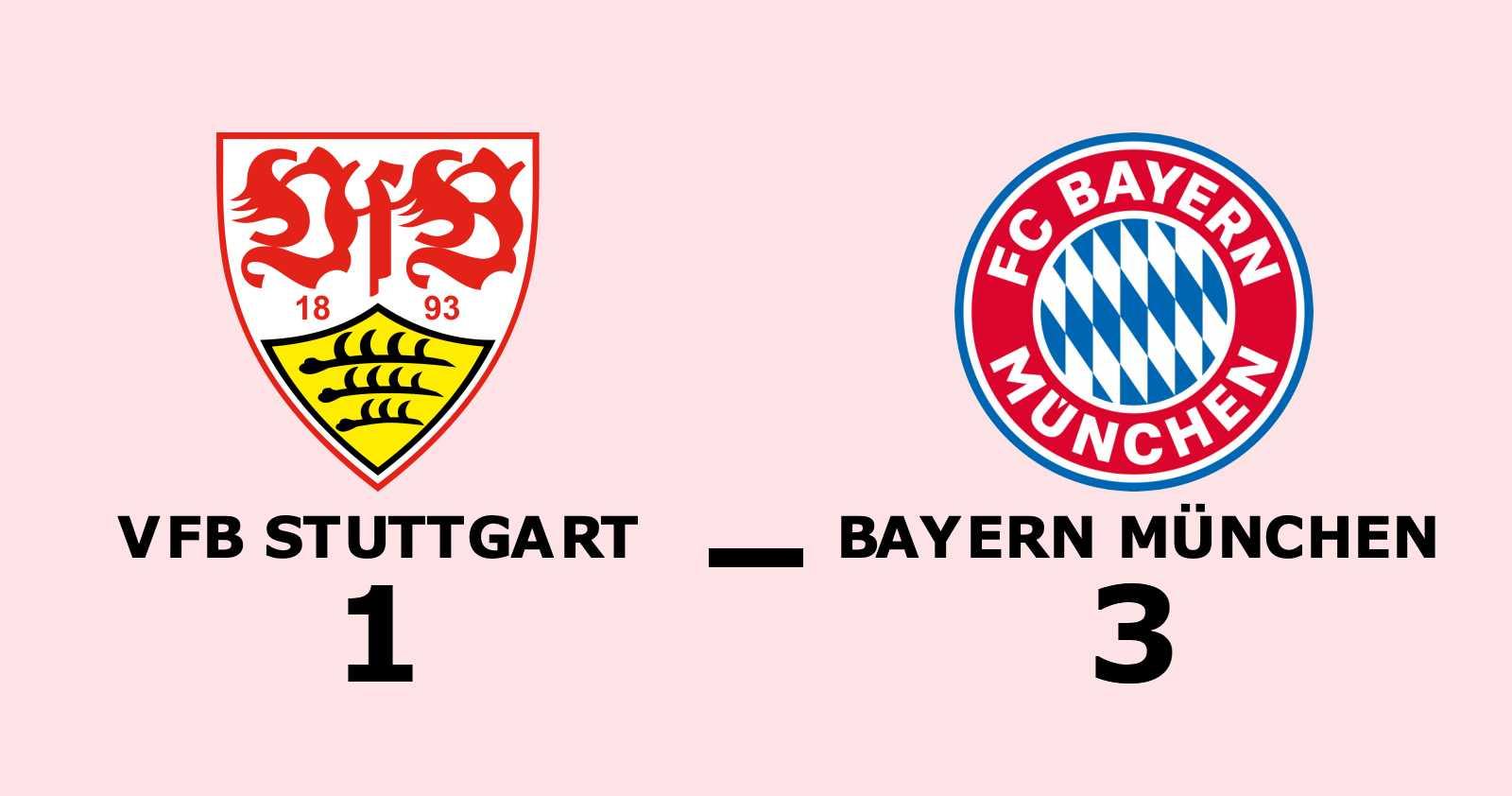 Klar seger för Bayern München mot VfB Stuttgart på Mercedes-Benz Arena