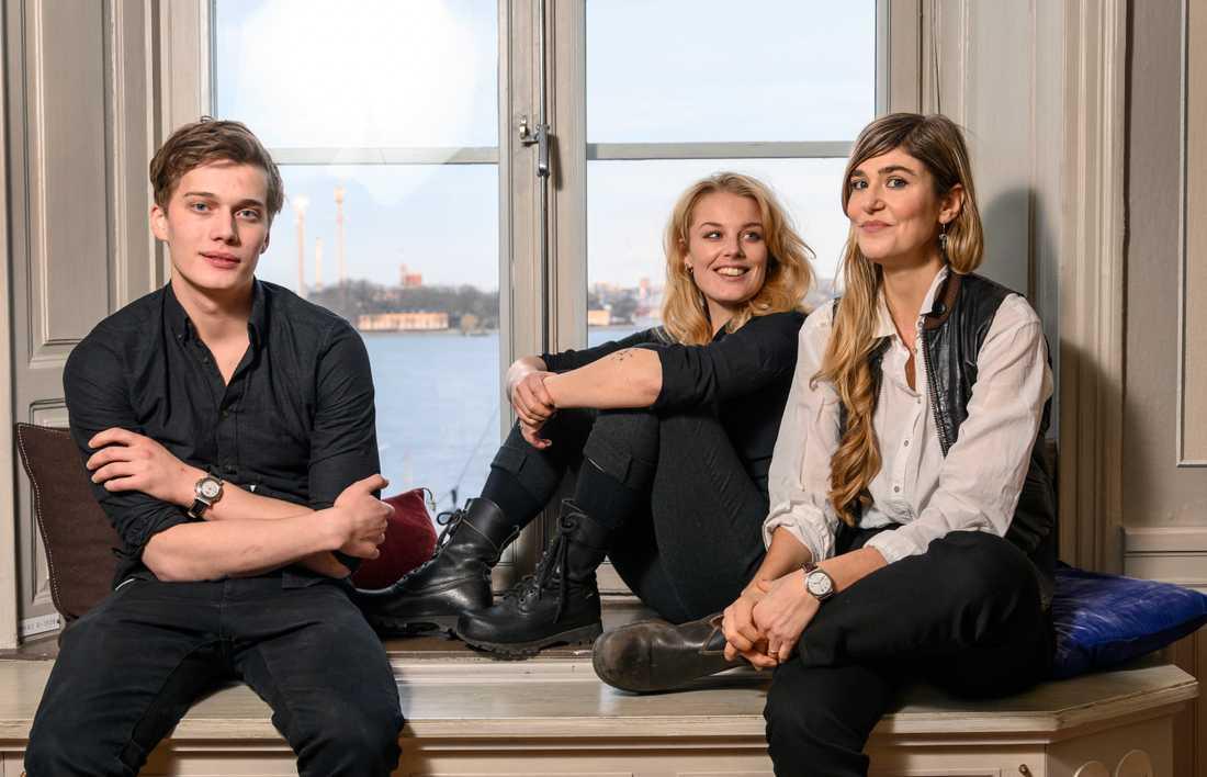 """Inspelningen av Netflixserien """"Kärlek och anarki"""" har pausats. Björn Mosten och Ida Engvoll spelar huvudrollerna i serien medan Lisa Langseth står för regi. Arkivbild."""