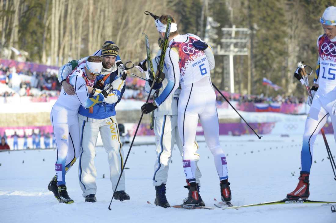 Emil Jönsson var totalt utmattad efter loppet.