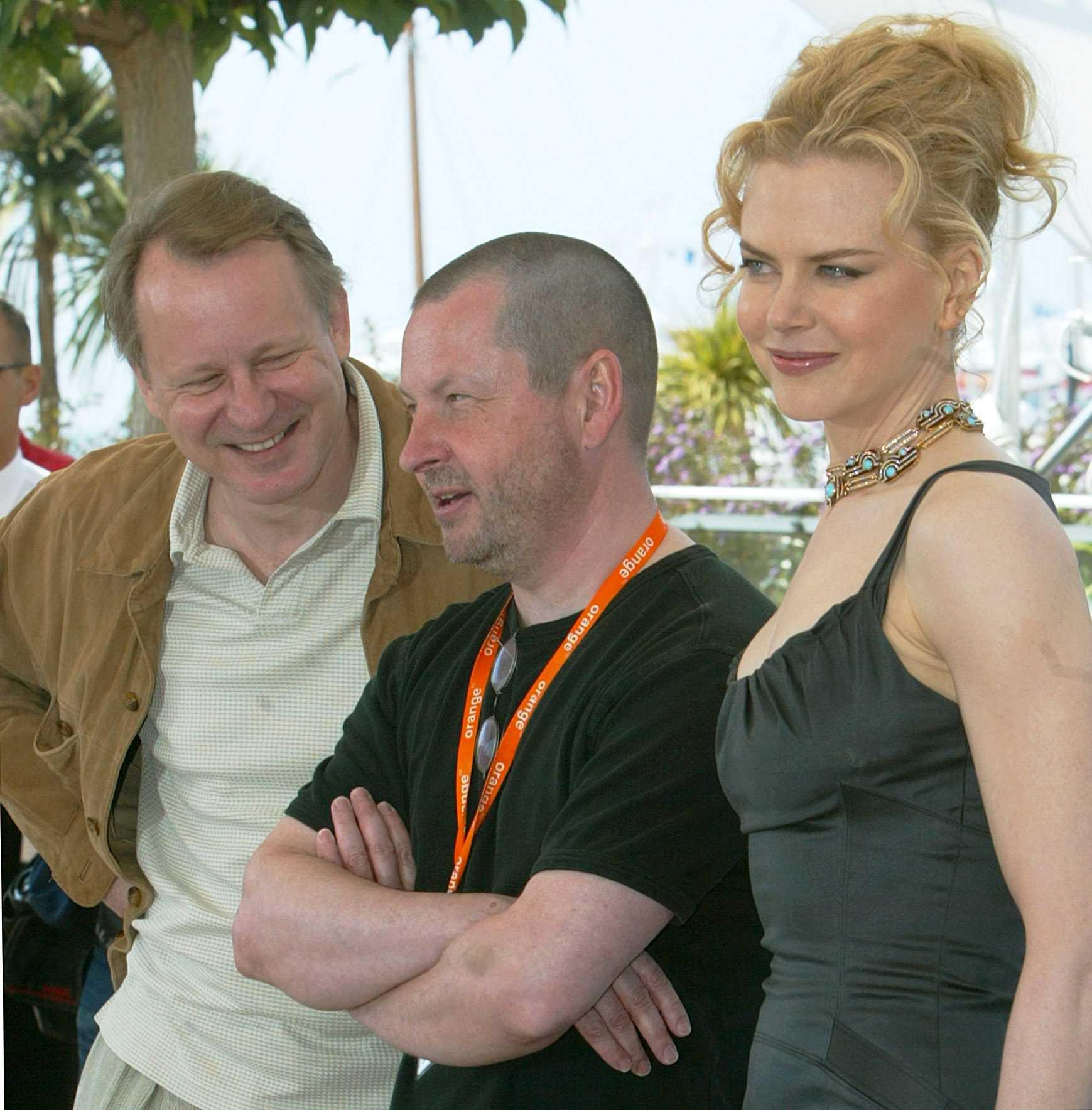 """På filmfestivalen i Cannes med """"Dogville""""."""