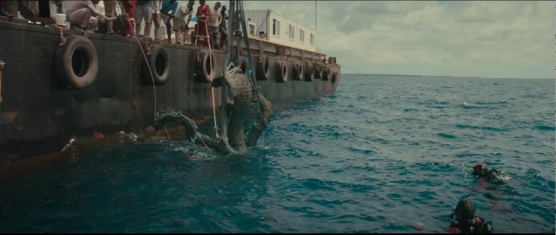 """Stillbild ur filmen """"Treasures from the Wreck of the Unbelievable"""" som hade premiär 1 januari."""