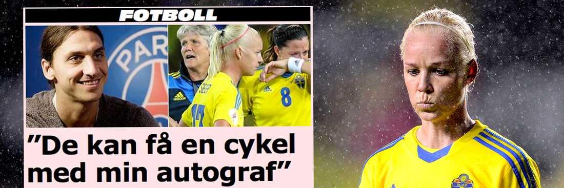 Det var på juldagen som Zlatan i en intervju med Expressen gav sig in i bilbråket kring Anders Svensson och bland annat fällde kommentaren att damspelarna kunde få en cykel med hans autograf. Nu svarar damlandslagets kapten Caroline Seger på utspelet.
