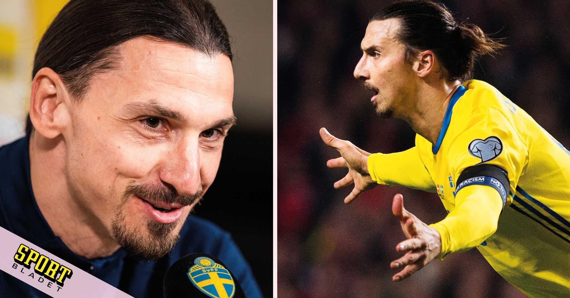 """Det tröjnumret får Zlatan i landslaget: """"Jag frågade snällt"""""""