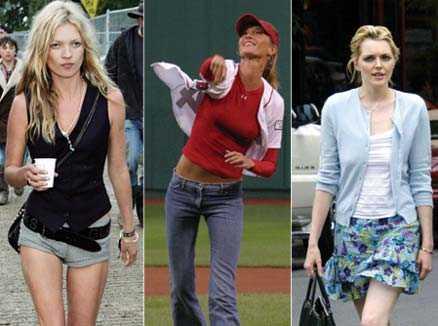 Kate Moss är i farozonen, liksom Gisele Bündchen och Sophie Dahl.