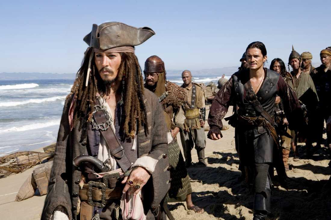 "Johnny Depp som Jack Sparrow i ""Pirates of the Caribbean""."