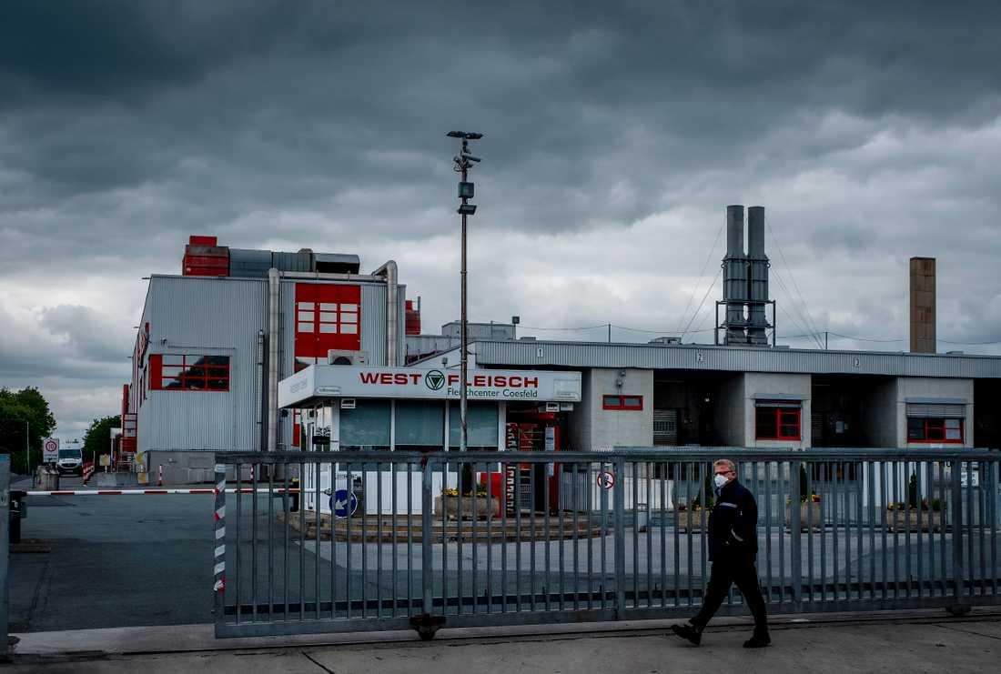 Företaget Westfleischs slakteri i Coesfeld i västra Tyskland, där hundratals anställda har smittats av coronaviruset.